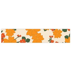 Vintage Floral Wallpaper Background In Shades Of Orange Flano Scarf (small) by Nexatart
