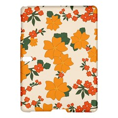 Vintage Floral Wallpaper Background In Shades Of Orange Samsung Galaxy Tab S (10 5 ) Hardshell Case  by Nexatart
