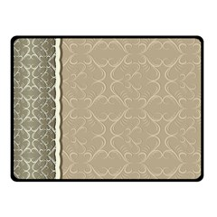 Abstract Background With Floral Orn Illustration Background With Swirls Fleece Blanket (small)
