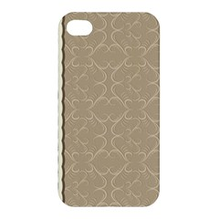 Abstract Background With Floral Orn Illustration Background With Swirls Apple Iphone 4/4s Hardshell Case by Nexatart