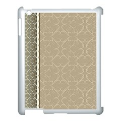 Abstract Background With Floral Orn Illustration Background With Swirls Apple Ipad 3/4 Case (white)