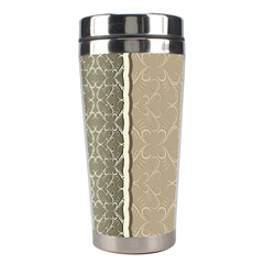 Abstract Background With Floral Orn Illustration Background With Swirls Stainless Steel Travel Tumblers by Nexatart