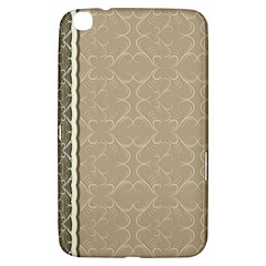 Abstract Background With Floral Orn Illustration Background With Swirls Samsung Galaxy Tab 3 (8 ) T3100 Hardshell Case