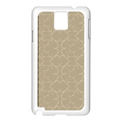 Abstract Background With Floral Orn Illustration Background With Swirls Samsung Galaxy Note 3 N9005 Case (white) by Nexatart