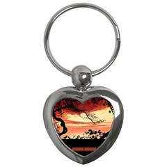 Autumn Song Autumn Spreading Its Wings All Around Key Chains (heart)  by Nexatart