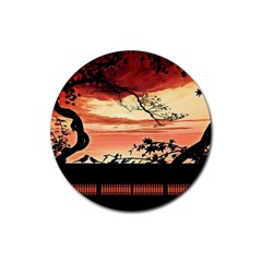 Autumn Song Autumn Spreading Its Wings All Around Rubber Coaster (round)  by Nexatart