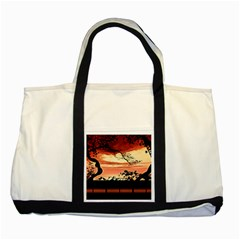 Autumn Song Autumn Spreading Its Wings All Around Two Tone Tote Bag
