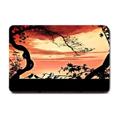 Autumn Song Autumn Spreading Its Wings All Around Small Doormat  by Nexatart
