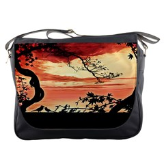 Autumn Song Autumn Spreading Its Wings All Around Messenger Bags by Nexatart