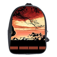 Autumn Song Autumn Spreading Its Wings All Around School Bags (xl)