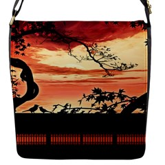 Autumn Song Autumn Spreading Its Wings All Around Flap Messenger Bag (s) by Nexatart
