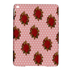 Pink Polka Dot Background With Red Roses Ipad Air 2 Hardshell Cases by Nexatart