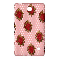 Pink Polka Dot Background With Red Roses Samsung Galaxy Tab 4 (8 ) Hardshell Case