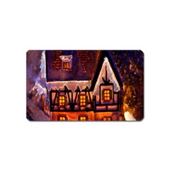 House In Winter Decoration Magnet (name Card) by Nexatart