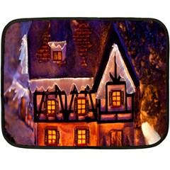 House In Winter Decoration Double Sided Fleece Blanket (mini)  by Nexatart