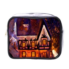 House In Winter Decoration Mini Toiletries Bags