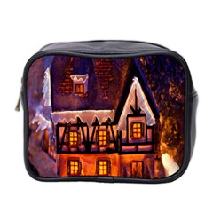 House In Winter Decoration Mini Toiletries Bag 2 Side by Nexatart