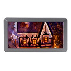 House In Winter Decoration Memory Card Reader (mini) by Nexatart