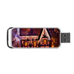 House In Winter Decoration Portable Usb Flash (one Side) by Nexatart