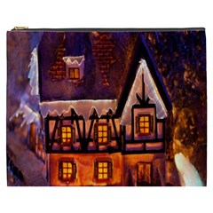House In Winter Decoration Cosmetic Bag (xxxl)  by Nexatart