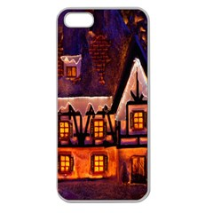 House In Winter Decoration Apple Seamless Iphone 5 Case (clear)