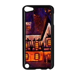 House In Winter Decoration Apple Ipod Touch 5 Case (black)