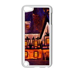 House In Winter Decoration Apple Ipod Touch 5 Case (white) by Nexatart