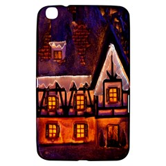House In Winter Decoration Samsung Galaxy Tab 3 (8 ) T3100 Hardshell Case