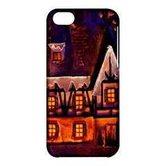 House In Winter Decoration Apple Iphone 5c Hardshell Case by Nexatart