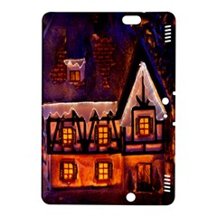 House In Winter Decoration Kindle Fire Hdx 8 9  Hardshell Case by Nexatart