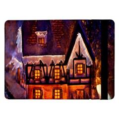 House In Winter Decoration Samsung Galaxy Tab Pro 12 2  Flip Case by Nexatart