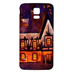 House In Winter Decoration Samsung Galaxy S5 Back Case (white) by Nexatart