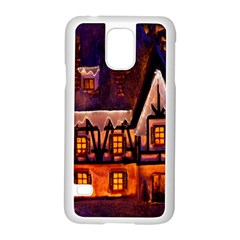 House In Winter Decoration Samsung Galaxy S5 Case (white) by Nexatart