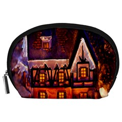 House In Winter Decoration Accessory Pouches (large)  by Nexatart