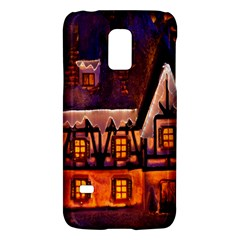 House In Winter Decoration Galaxy S5 Mini by Nexatart