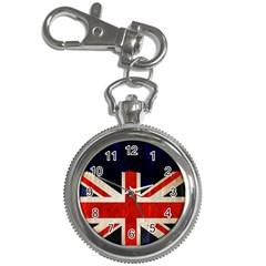Flag Of Britain Grunge Union Jack Flag Background Key Chain Watches by Nexatart