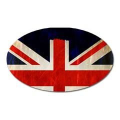 Flag Of Britain Grunge Union Jack Flag Background Oval Magnet