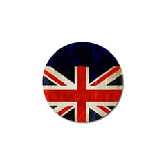 Flag Of Britain Grunge Union Jack Flag Background Golf Ball Marker (4 Pack)