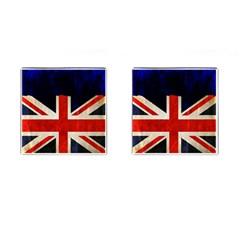 Flag Of Britain Grunge Union Jack Flag Background Cufflinks (square) by Nexatart