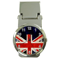 Flag Of Britain Grunge Union Jack Flag Background Money Clip Watches