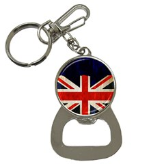 Flag Of Britain Grunge Union Jack Flag Background Button Necklaces by Nexatart