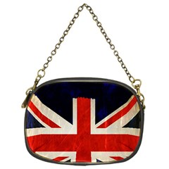 Flag Of Britain Grunge Union Jack Flag Background Chain Purses (one Side)  by Nexatart