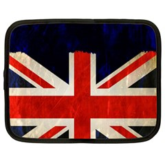 Flag Of Britain Grunge Union Jack Flag Background Netbook Case (xxl)  by Nexatart