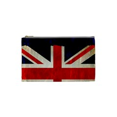 Flag Of Britain Grunge Union Jack Flag Background Cosmetic Bag (small)  by Nexatart