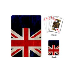 Flag Of Britain Grunge Union Jack Flag Background Playing Cards (mini)