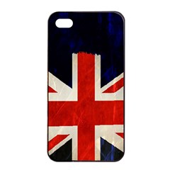 Flag Of Britain Grunge Union Jack Flag Background Apple Iphone 4/4s Seamless Case (black) by Nexatart