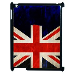 Flag Of Britain Grunge Union Jack Flag Background Apple Ipad 2 Case (black) by Nexatart