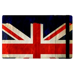 Flag Of Britain Grunge Union Jack Flag Background Apple Ipad 2 Flip Case by Nexatart
