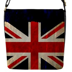 Flag Of Britain Grunge Union Jack Flag Background Flap Messenger Bag (s)