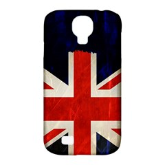 Flag Of Britain Grunge Union Jack Flag Background Samsung Galaxy S4 Classic Hardshell Case (pc+silicone)